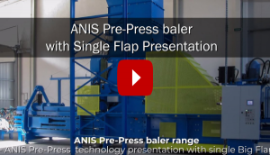 ANIS Einzelne Prepress-Klappen-Ballenpressen-Serie