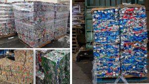 Bale paketi iz pločevink in kovinskih odrezkov