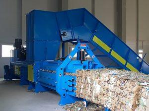 Cardboard packaging auto-tie press