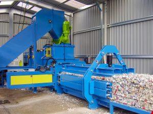 Prensa de balas para fábricas de papel