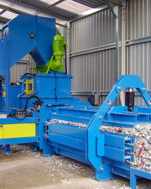 Paper mills baling press
