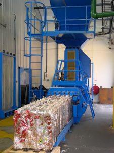 Prensa de residuos residuales