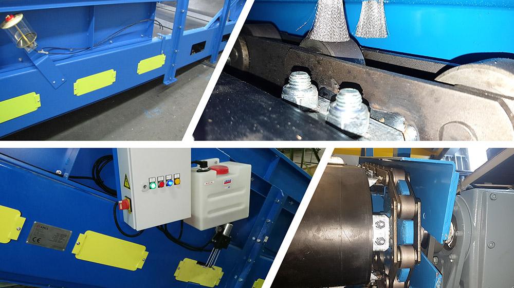 Automatisches zentrales Ölschmiersystem für Förderband