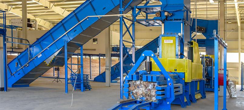 Paper baling press