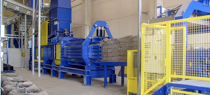 Residual waste press