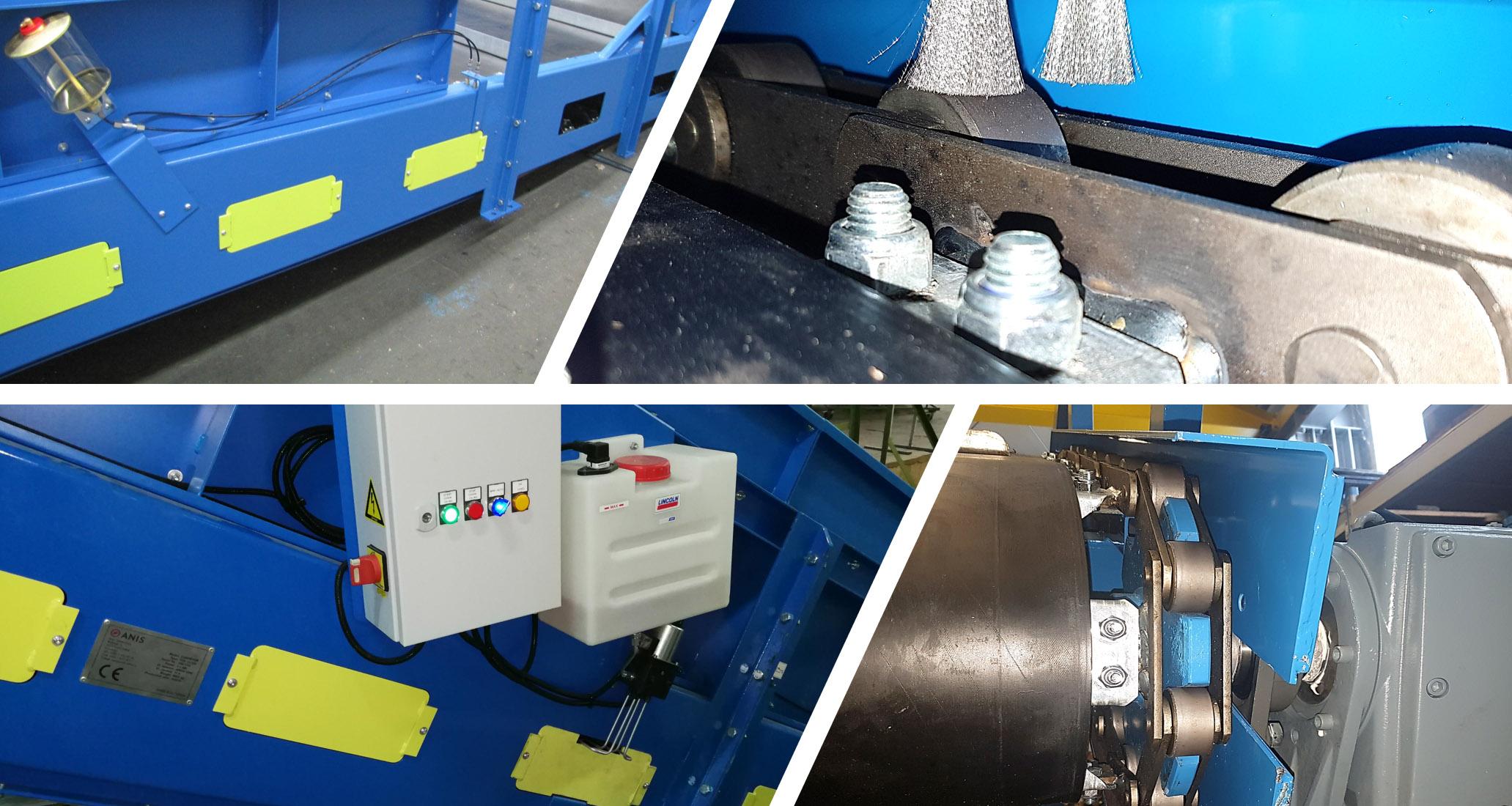 Transportadores de cinta de cadena Sistema de lubricación