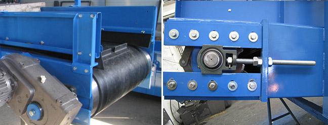 Rodilos deflectores Transportadores de cinta deslizantes