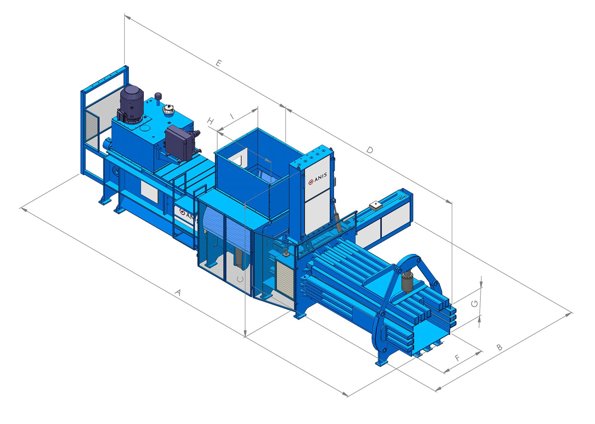 Serie de empacadoras con solapas de preimpresión dobles dimensiones