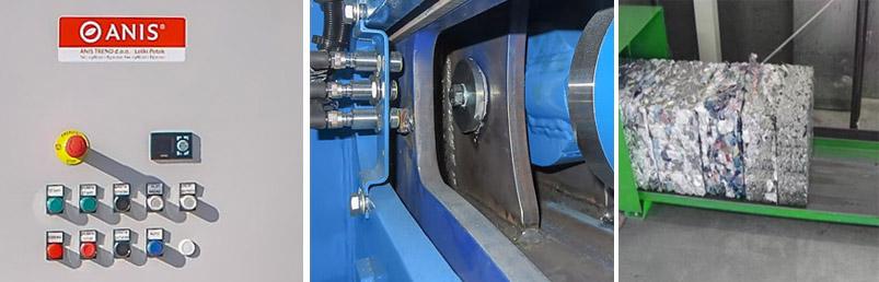 Sliding press ram - adjustable bale length