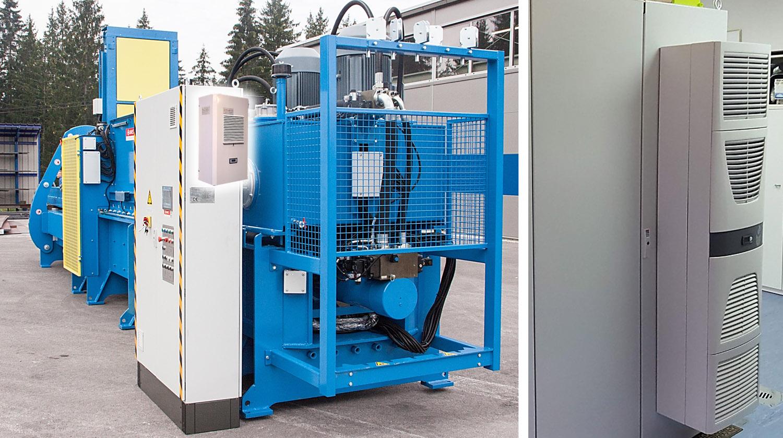 Gabinete eléctrico con aire acondicionado