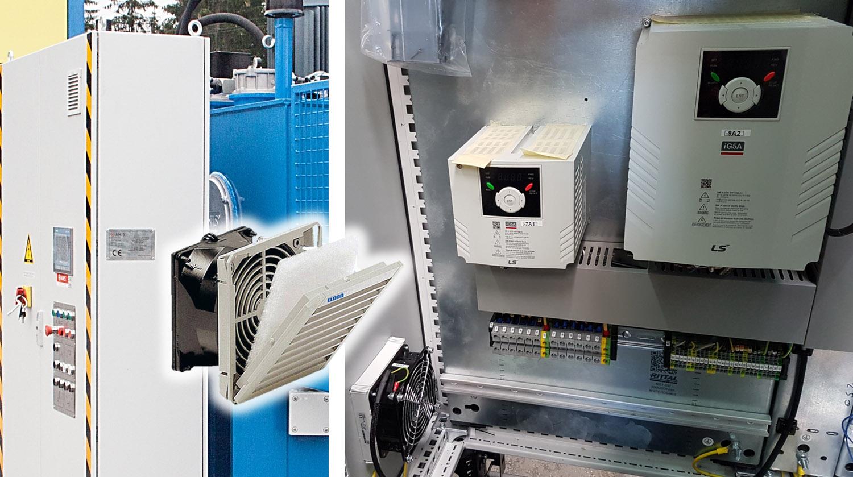 Ventilador de filtro para armario eléctrico
